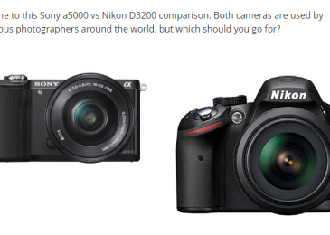 Sony a5000 vs Nikon D3200 – Which Should You Go For?