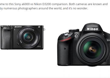 Sony a6000 vs Nikon D3200 – Detailed Comparison