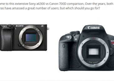 Sony a6300 vs Canon 700D – Detailed Comparison