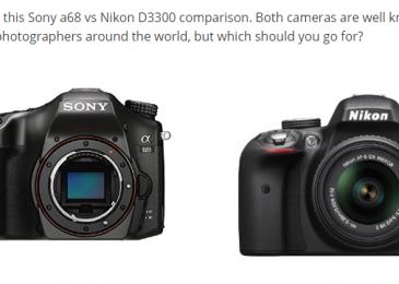 Sony a68 vs Nikon D3300 – Extensive Comparison