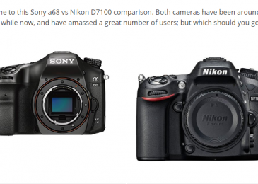 Sony a68 vs Nikon D7100 – Which Should You Go For?